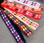1 NON-SLIP HEADBAND velvet lined 22 designs colors Dots Squares elastic in back