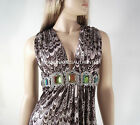 Sky Brand Mini Dress Top Clothing Mirrored Crystal Belt Feather Print S SALE