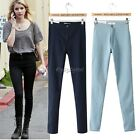 Women Skinny Stretch High Waist Pencil Pants Leggings Trouser Jeans 3 Colors 35D