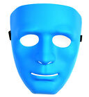 4Color Full Face Plastic Plain Mask Masquerade Party Costume Crew Hip-Hop Dance