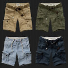 New Abercrombie & Fitch A&F By Hollister Men Cargo Shorts With Belt All Sizes