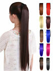 Women Ladies Silky Straight Long Ponytail Synthetic Hair Extension Hairpiece