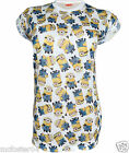 Womens Despicable Me 2 Minions Top Ladies  Roll Sleeve T Shirt Size 6 - 20 NEW