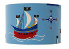 Childrens / Boys Blue Pirate Ship Lampshade, Ceiling pendant,Table Lamp,Cushion