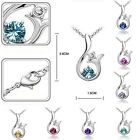 Lily Flower Rhinestone Crystal Statement Short Chain Bib Pendants Necklaces