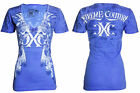 Xtreme Couture AFFLICTION Womens T-Shirt NATIVE Skulls Biker UFC Sinful S-XL $40
