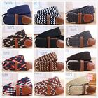 New Mens Womens Casual Elastic Knitted Adjustable Waistband Buckles Waist Belts