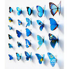 12* 3D Butterfly Stickers Making Stickers Art Wall Crafts Home Wedding Decor