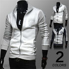 NEW Spring Korean Fashion Men's Slim Casual Long Sleeve Hoodie Coat Jacket Hot