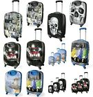 Large Medium Or Small Hard ABS Plastic Shell Suitcases Luggage Mini Skull Banksy