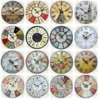 Large Vintage Rustic Wooden Wall Clocks Shabby Chic Antique Kitchen Home New Hot