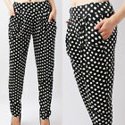 Women Girls Comfortable Baggy stretchy Casual Harem Pants Trousers XS~S~M