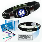 epilepsy color - ELITE Medical Alert ID Bracelet. Waterproof! Choose Color and Medical Cond.