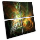 Funky Design Abstract MULTI CANVAS WALL ART Picture Print VA