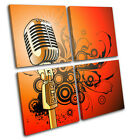 Microphone Abstract Musical MULTI CANVAS WALL ART Picture Print VA