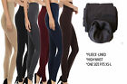 Womens FLEECE LINED HIGH WAIST Thermal THICK Winter FOOTLESS Leggings Tights