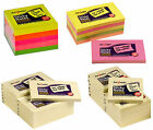 Premium Sticky Memo Notes Pastel Yellow Neon Bright Post It Cubes Rectangle