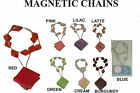 Magnetic Curtain Net Voiles Chains Tieback - Red Green Blue Pink Cream