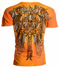 Archaic AFFLICTION Mens T Shirt ALUMINIM Skull Wings Tattoo Biker UFC M 4XL 40