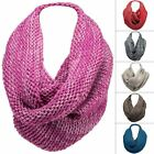 Two-Tone Knit Infinity Scarf Winter Fashion Circle Loop Cowl Neck Wrap Warmer