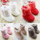 Crochet/Knitted Winter Warm Soft Fleece Boots Snow Crib Shoes Toddler Infant M10