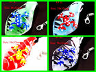 Glass Murano Lampwork Frog On Leaf Pendant Wax Cord Necklace/ 6 Colors