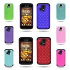 For Kyocera Hydro Icon / Hydro Life - Hybrid Diamond Bling Phone Cover Case