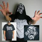 Zombie Halloween Costume 100% Cotton Mens Flip Over Black Funny T Shirt
