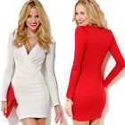 Women Bandage Bodycon Long Sleeve Evening Sexy Party Cocktail Mini Dress Fashion