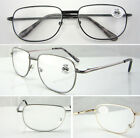 L42 Reading Glasses/Spring Hinges/Simple Style & Large Metal Frame/Easy To Read