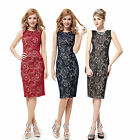 Ever Pretty Charming Stylish Black Lace Short Summer Casual Pencil Dress 05336