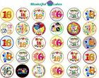 30 x 16th Birthday Design Edible Wafer / Icing Cup Cake Topper