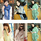 Women's Fashion Porcelain Design Chiffon Scarf Pashmina Wrap Shawl Long Stole