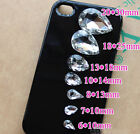 Clear Rhinestone Faceted Pointed foiled Back Glass Jewels Craft teardrop stone