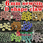 100pcs 6mm Sew On faceted Crystals Rhinestones Diamantes beads Jewels pk color