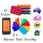 2 x Silicone Pad Anti Slip Suction Cup Sticky Pads Holder for Phone Small Gadget