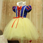 Child Girls Princess Snow White Cosplay Tutu Dress Party Festival Fancy Dress Up