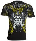 Archaic AFFLICTION Mens T-Shirt COAL Eagle Wings Tattoo Biker MMA M-4XL $40 image