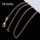 WHOLESALE TOP JEWELLERY 1MM GOLD SILVER CHARM CHAINS NECKLACE XMAS GIFT 18pa
