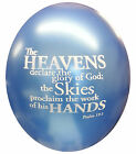 Bible Verse printed on 20 balloons Christian quote personalised gift psalms