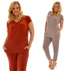 Womens Jumpsuit Ladies Ity Playsuit All in One Elastic Pocket Plus Size Nouvelle