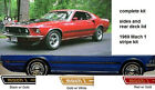69 1969 Mustang Mach 1 Complete Stripes Kit FORD Stripe Manufacturer ALL COLORS