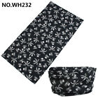 2Pcs Face/Mask/Neck Gaiter Warmer Biker Scarf Tube Bandana Beanie Cap Wholesale
