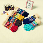 Unisex Women's Lady Winter Warm Knit Thermal Insulated Full Mittens Fleece Glove