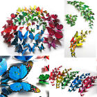 Hot Sale!! 12pcs 3D Butterfly Wall Stickers Home Room Decoration Art DIY Decal