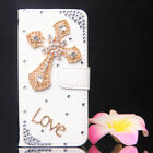 Bling Crystal Bow Wallet Leather Flip Case Cover for various huawei cell phone