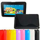 "S-Line Wave Gel Silicone Case For Amazon Kindle Fire HD 7"" Free Screen Protector"