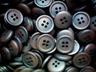 15mm Chocolate Brown 4 Hole Quality Buttons Various Pack Sizes Joblot (CC10) X