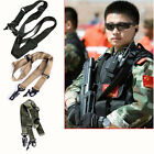 Adjustable Airsoft Tactical 2 Point Bungee Rifle Gun Sling Swivels System Strap