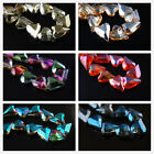 5pcs 21x18mm Glass Crystal Charms Faceted Heart Necklace Findings Spacer Beads